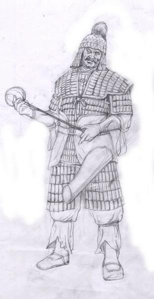 蒋振威:中国古代甲士手绘图(叶鑫宇快来看)